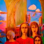 Julien et les enfants du fleuve - 2003 - acrylique sur toile - 60.3cm x 76cm