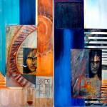 D'après Nocture indien de Tabbuchi-2013-diptyque - mixte sur toile-121,9cm x 121,9cm