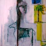 Les pleurs du cheval de Gautama-2011-mixte sur toile-121cm x 70cm