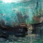 Le vaisseau où la Lumière fut, Huile sur terraskin marouflé sur toile de bois 76.19cm x 101.59cm