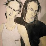 Le couple témoin, 2017 Huile sur toile 71,12cm x 55,88cm