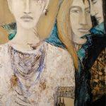 Les trois témoins, 2017 Huile sur toile 91,44cm x 60,96cm