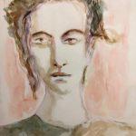 Adolescente, 2019 - Aquarelle sur papier - 32cm x 21.5cm