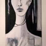 Clara, 2012 - Acrylique sur toile cartonnée - 82cm x 33.8cm