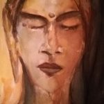 Femme sur l'arbre de la Bodhi, 2019 - Aquarelle - 30.48cm x 22.86