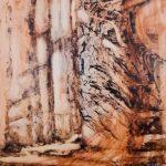 L' envol de l'ange, 2017 - Huile sur Terraskin marouflé sur panneau de bois - 101.6cm x 76.2cm