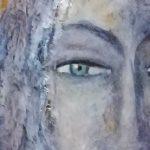 Orca 2019 - Pièce murale, peinture à l'huile - 39cmx15cmx3.5cm