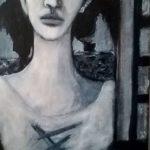 Stop, 2015 - Acrylique sur carton entoilé marouflé sur toile - 51cm x30cm