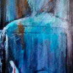 La chute de l'oiseau, 2014 -Acrylique - 92cm x 16cm
