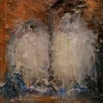Mes oiseaux, 2017 - Huile sur bois - 5cm x 4cm